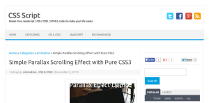 CSS Parallax Scrolling Website Tutorials   Potent Pages