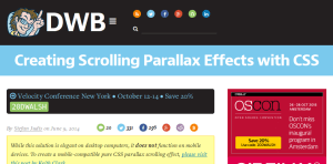 CSS Parallax Scrolling Website Tutorials | Potent Pages